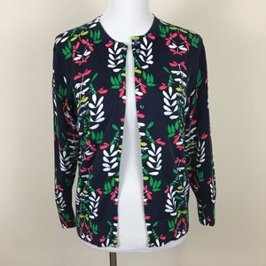 Crown & Ivy Navy Blue Dragon Fly Cardigan Sweater